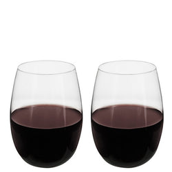 Shatterproof Stemless Wine Glasses Set/2 - Wine Rack Concepts