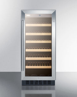 "SWC1535B-15"" Built-in wine fridge with wood shelves - Wine Rack Concepts"