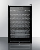 "SWC525LBI7HH -20"" Built-in Wine Fridge w/ Lock and Digital Thermostat - Wine Rack Concepts"