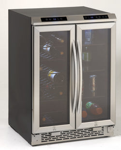 WBV19DZ - Side-by-Side Dual Zone Beverage and Wine Cooler - Wine Rack Concepts