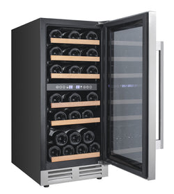 WCF282E3SD - 28 Bottle Designer Series Dual Zone Wine Cooler w/Seamless Door - Wine Rack Concepts
