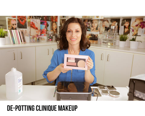 De-pot Clinique Palette with Z Potter De-Potting Machine