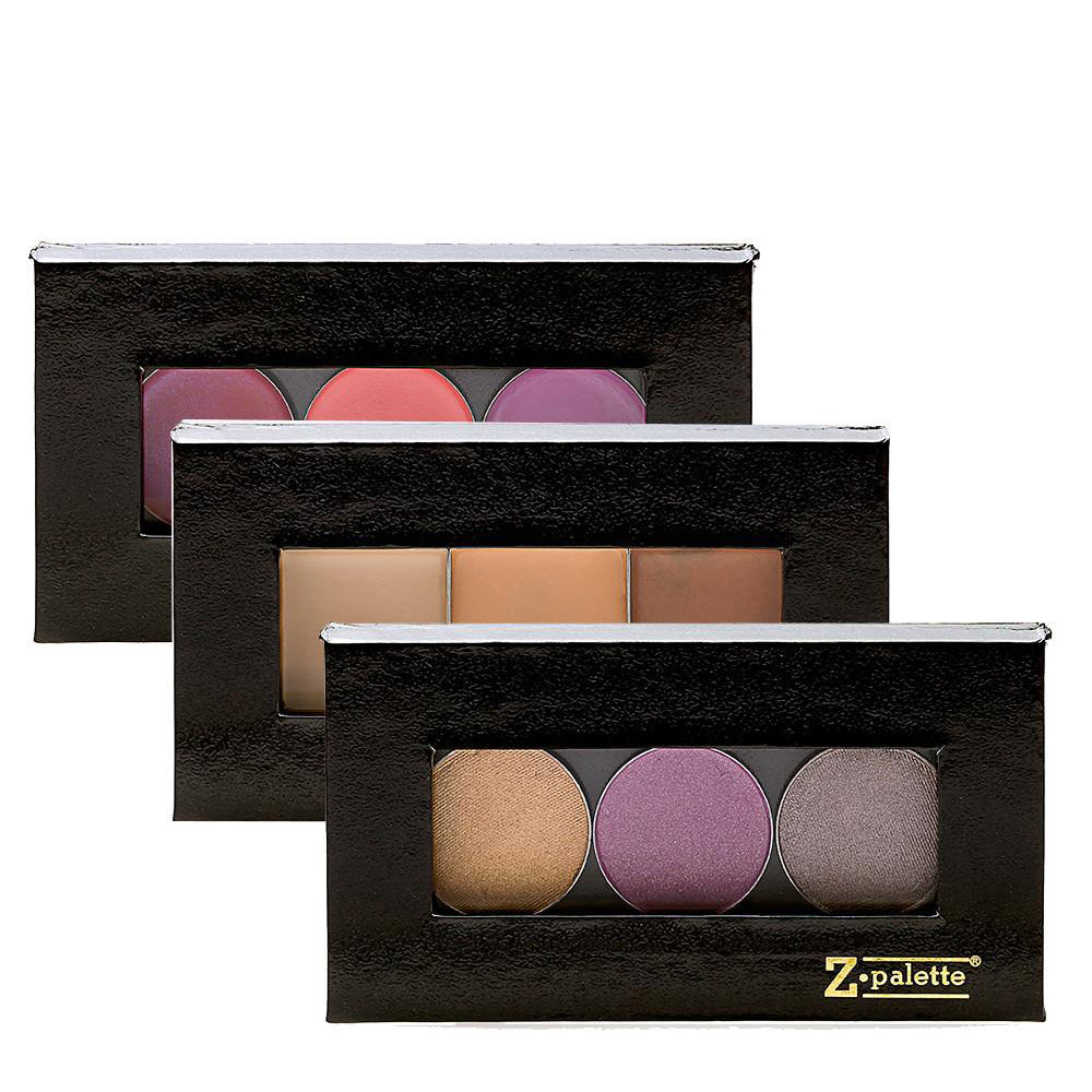 Mini Magnetic Makeup Palette 3-pack