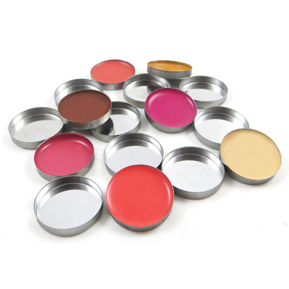 ROUND EMPTY MAKEUP PANS - 20 / Silver