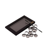Large Black Empty Magnetic Makeup Z Palette with Depotting Spatula