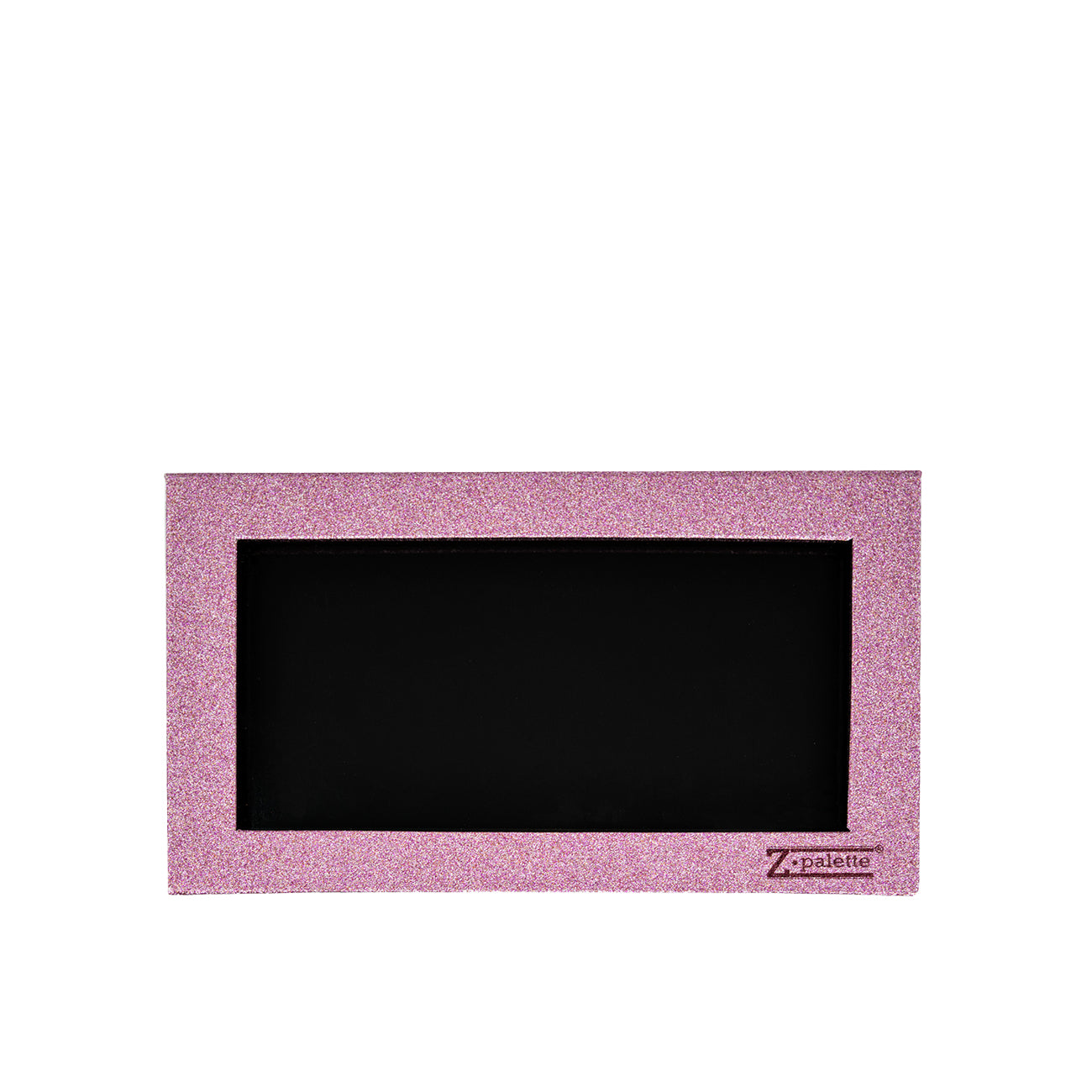 Large Pink Glitter Magnetic Makeup Palette with Clear Window