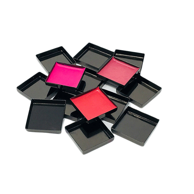 SQUARE EMPTY MAKEUP PANS - GLOSSY BLACK