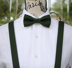 Juniper Green Bow Tie and Suspenders