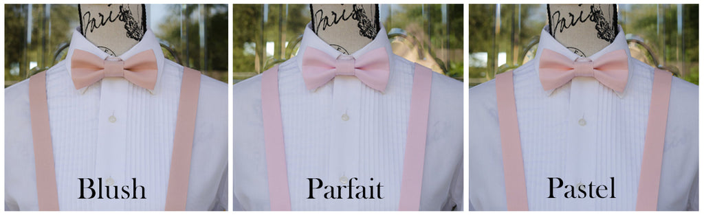 Blush Pink Neck Ties and Bow Ties