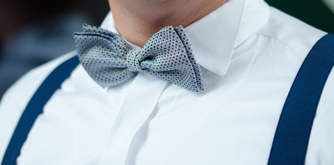 accessorizing with bow ties and suspenders