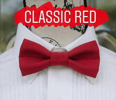 Red Bow Ties - Classic Red Bow Ties. Wedding Bow Tie, Grad Bow Tie, Mens Bow Ties, Made in Canada