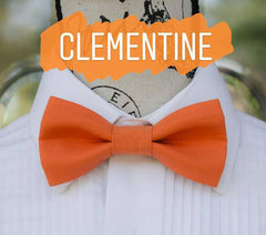 Orange Bow Ties - Clementine Orange. Wedding Bow Tie, Grad Bow Tie, Mens Bow Ties, Made in Canada