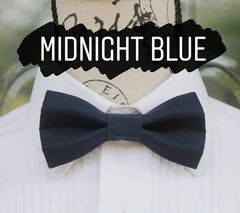 Blue Bow Ties - Navy Blue. Wedding Bow Tie, Grad Bow Tie, Mens Bow Ties, Made in Canada