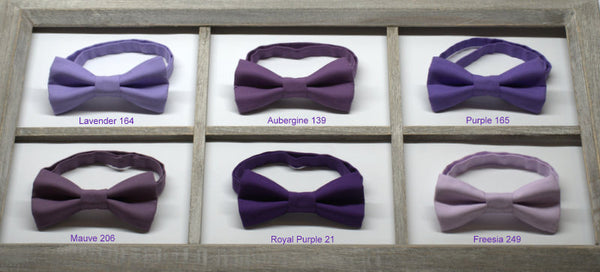 Purple Bow Ties - Wedding Bow Tie, Grad Bow Tie, Mens Bow Ties