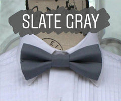 Gray Bow Ties - Grey Bow Tie. Wedding Bow Tie, Grad Bow Tie, Mens Bow Ties, Made in Canada