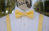 (01-23) Classic 30's Yellow Bow Tie and/or Suspenders - Mr. Bow Tie