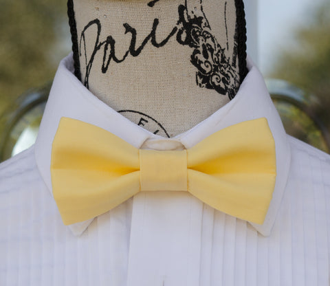 (01-23) Classic 30's Yellow Bow Tie - Mr. Bow Tie