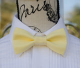 (01-31) Light Yellow Bow Tie - Mr. Bow Tie