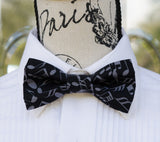 Gray Music Notes Bow Tie - Mr. Bow Tie