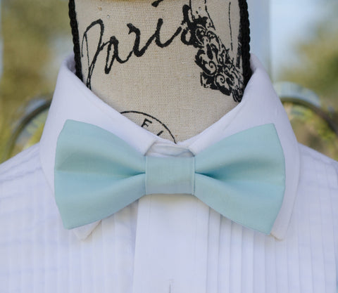 (44-84) Dusty Blue Bow Tie - Mr. Bow Tie