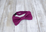 Burgundy Bow Tie and Suspenders (Burgundy Suspenders and Bow Tie) for Weddings, Prom, Graduation and Formal Events. Bow Tie and Suspenders are Handmade and Made in Canada. Made by Mr. Bow Tie.
