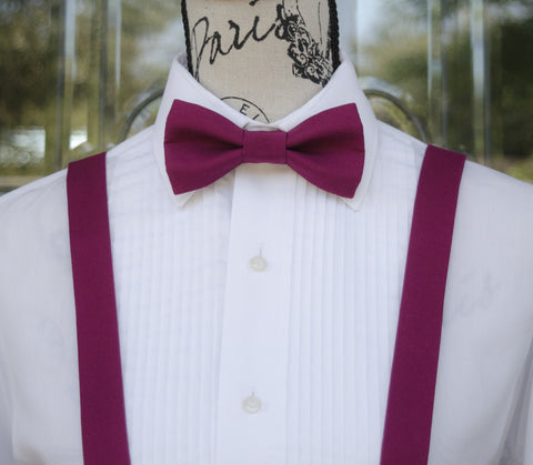 (23-217) Boysenberry Bow Tie and/or Suspenders - Mr. Bow Tie