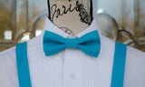 (47-226) Bright Turquoise Bow Tie and/or Suspenders - Mr. Bow Tie