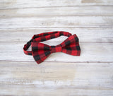 (20-11MB) Buffalo Check Bow Tie and/or Suspenders