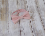(11-195) Blush Pink Bow Tie and/or Suspenders - Mr. Bow Tie