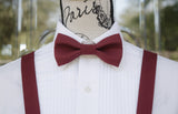 (21-18) Burgundy Bow Tie and/or Suspenders - Mr. Bow Tie