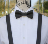 (68-284) Charcoal Gray Bow Tie and/or Suspenders - Mr. Bow Tie