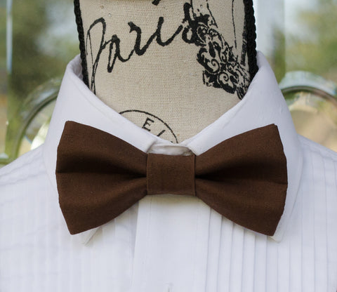 (62-71) Chocolate Brown Bow Tie - Mr. Bow Tie
