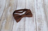 (62-71) Chocolate Brown Bow Tie and/or Suspenders - Mr. Bow Tie