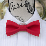 (19-16) Christmas Red Bow Tie and/or Suspenders - Mr. Bow Tie