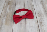 (20-17) Classic Red Bow Tie and/or Suspenders - Mr. Bow Tie