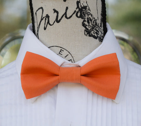(08-209) Clementine Orange Bow Tie - Mr. Bow Tie