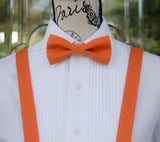 (08-209) Clementine Orange Bow Tie and/or Suspenders - Mr. Bow Tie