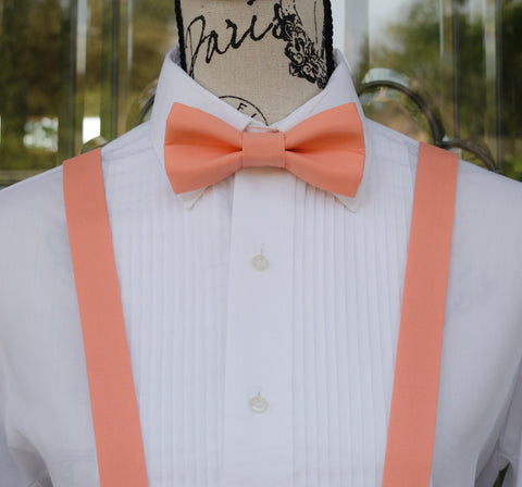 (09-147) Coral Bow Tie and/or Suspenders - Mr. Bow Tie