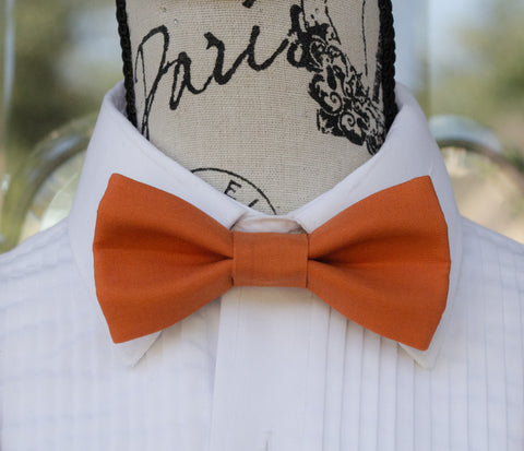 Autumn Orange mens bow tie for weddings, prom, graduation and formal events. Bow ties are handmade, pretied and made in Canada