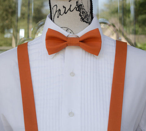 (05-231) Autumn Orange Bow Tie and/or Suspenders - Mr. Bow Tie