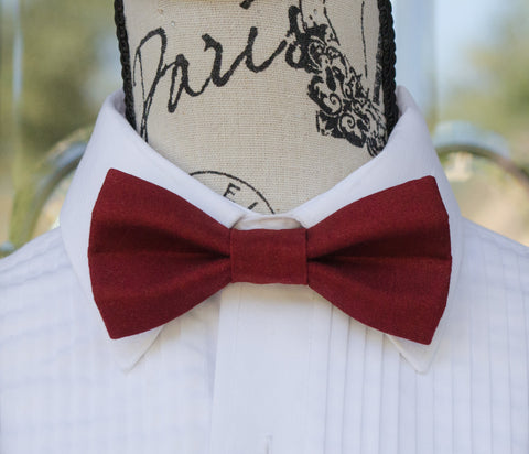(20-39) Deep Red 2 Tone Bow Tie - Mr. Bow Tie