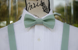 (54-38) Dusty Jade Bow Tie and/or Suspenders - Mr. Bow Tie