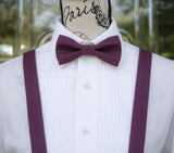 (27-205) Eggplant Bow Tie and/or Suspenders - Mr. Bow Tie