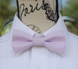 Light Lilac mens bow tie for weddings, prom, graduation and formal events. Bow ties are handmade, pretied and made in Canada