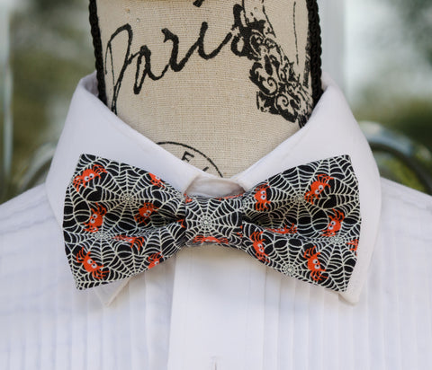 Glow in the Dark Spider Webs Bow Tie - Mr. Bow Tie