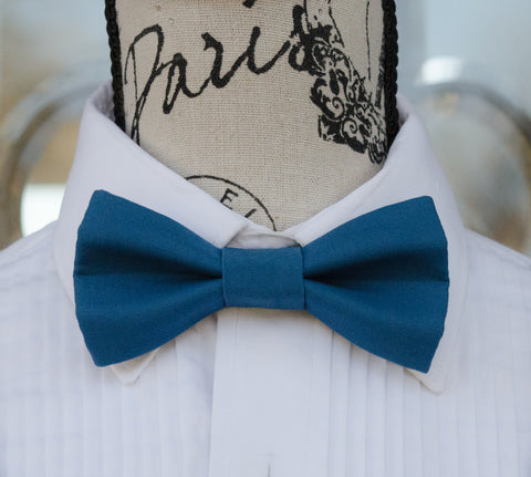 (41-329) Harbor Blue Bow Tie - Mr. Bow Tie