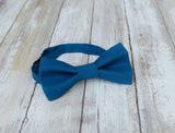 Blue Bow Tie and Suspenders (Harbour Blue Suspenders and Bow Tie) for Weddings, Prom, Graduation and Formal Events. Bow Tie and Suspenders are Handmade and Made in Canada. Made by Mr. Bow Tie.