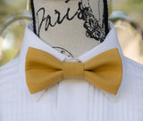 (03-244) Harvest Gold Bow Tie and/or Suspenders - Mr. Bow Tie