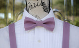 (31-380) Heather Purple Bow Tie and/or Suspenders - Mr. Bow Tie