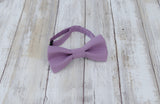 Purple Bow Tie and Suspenders (Heather Purple Suspenders and Bow Tie) for Weddings, Prom, Graduation and Formal Events. Bow Tie and Suspenders are Handmade and Made in Canada. Made by Mr. Bow Tie.